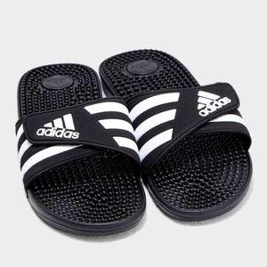 Adidas Unisex adissage Slides, Black / White, 9